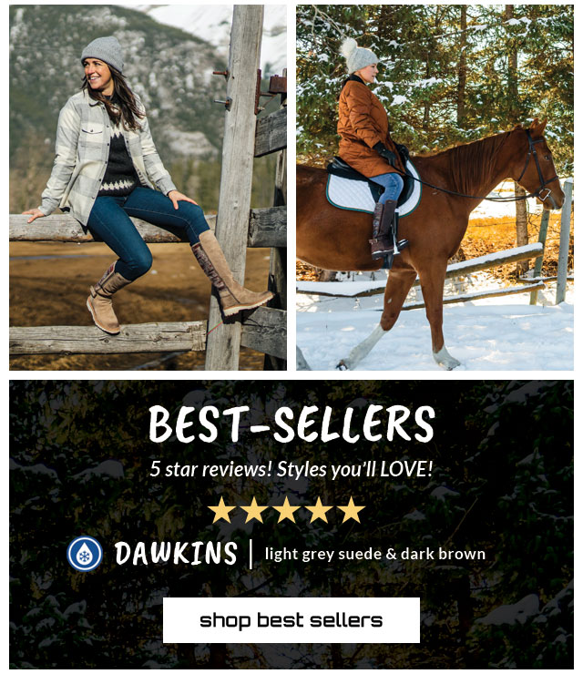 Best-Sellers. 5 star reviews! Styles you'll Love! Featured style: All-Weather Dawkins in light grey suede and dark brown. shop best-sellers.