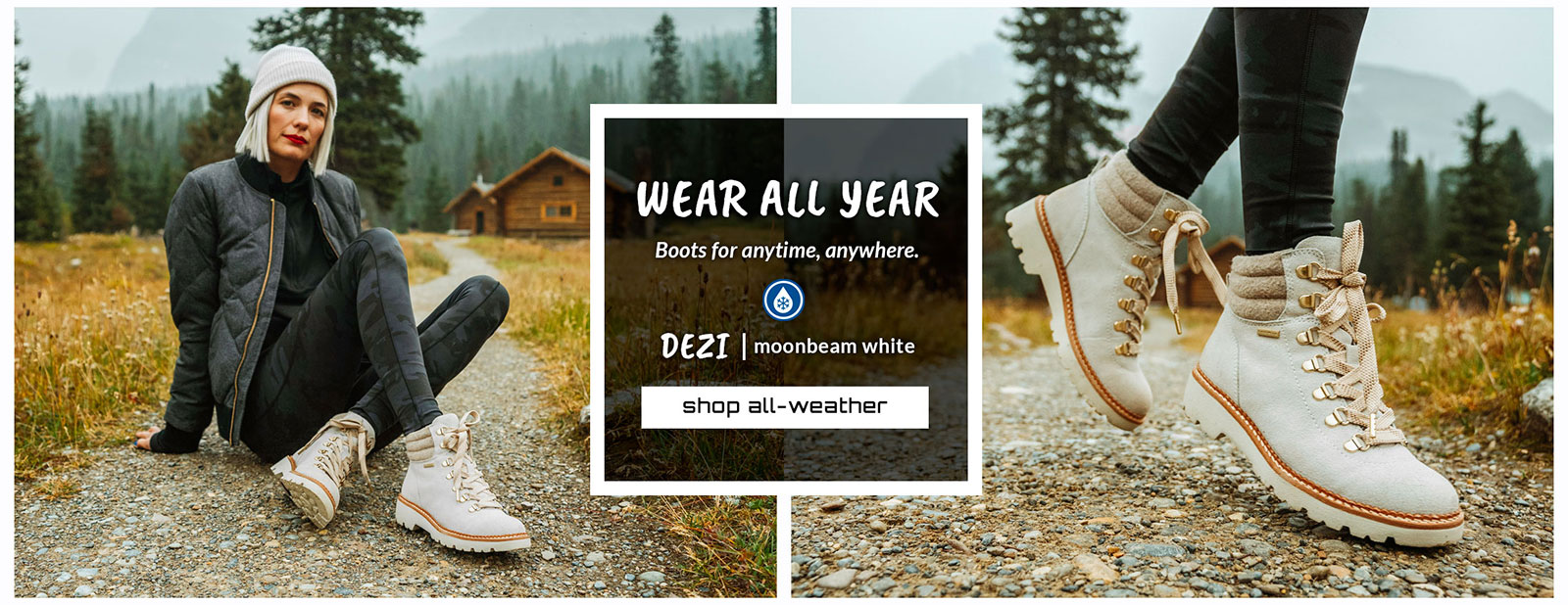 Wear All Year. Boots for anytime, anywhere. Featured style: All-Weather Dezi boot in moonbeam white. Shop All-Weather.