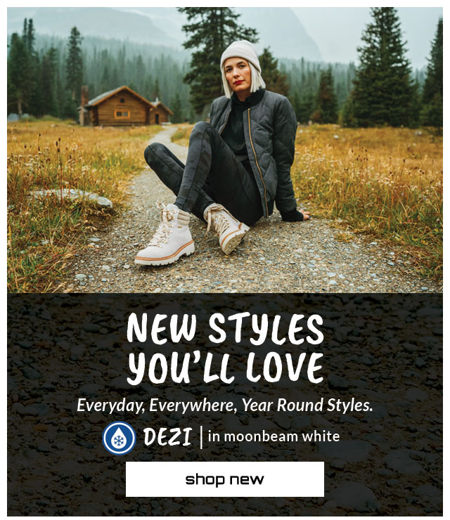 New Styles You'll Love. Everyday, Everywhere, Year Round Styles. Featured style: All-Weather DEZI in White. Shop New.